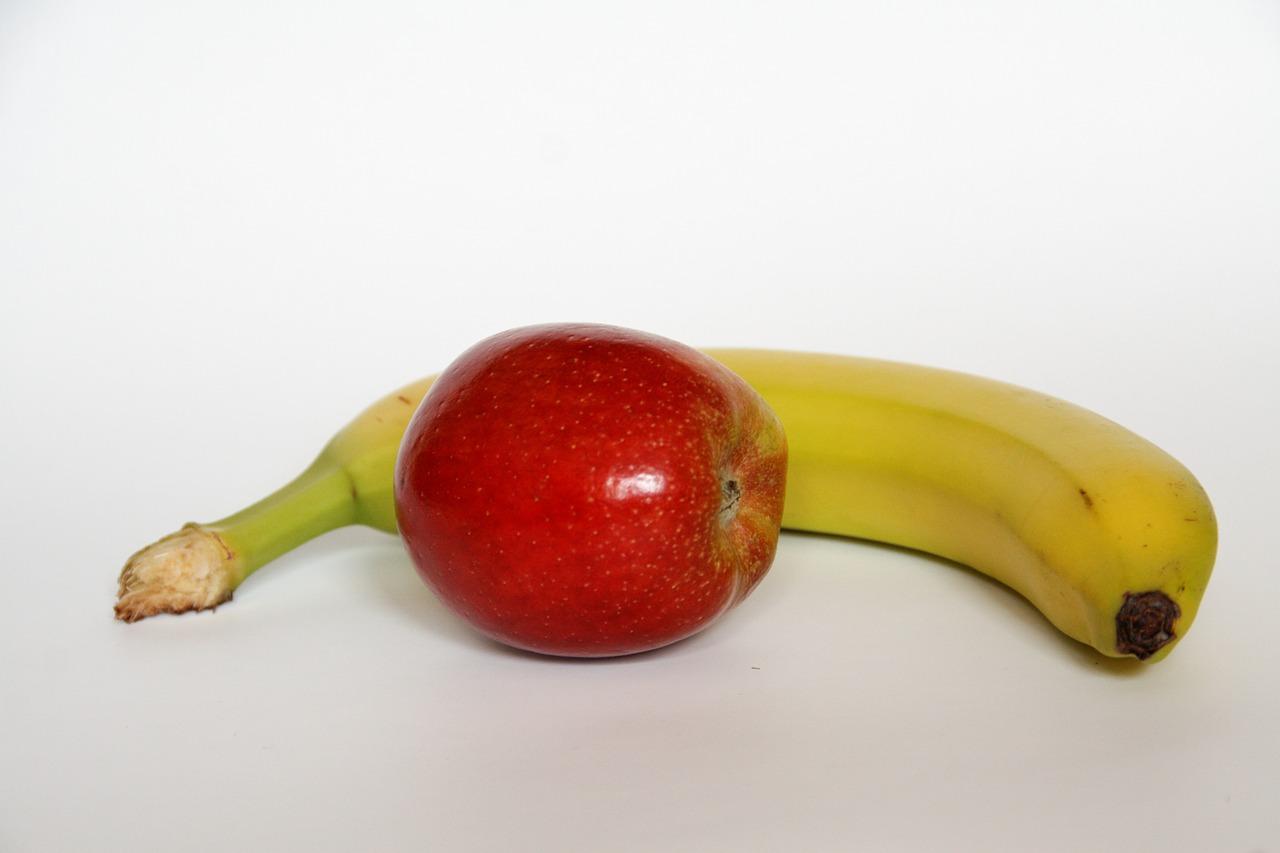 Apfel-Banane mit Kiwi